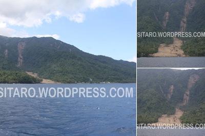 View Akibat Longsor di Desa Karalung