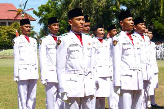 Sebagian Anggota Paskibara HUT Ke-68 RI di Sulawesi Utara.