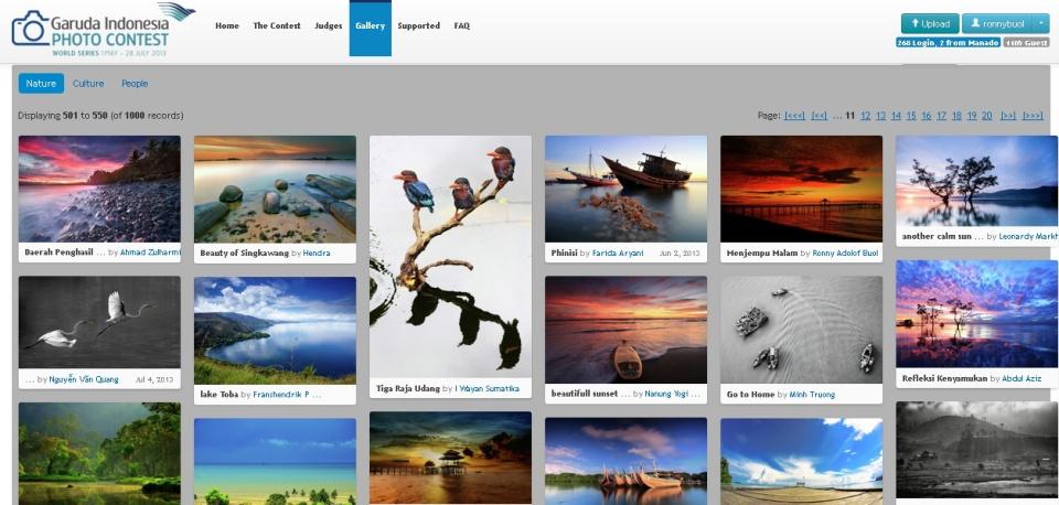 Foto berjudul Menjemput Malam masuk dalam TOP1000 Nature