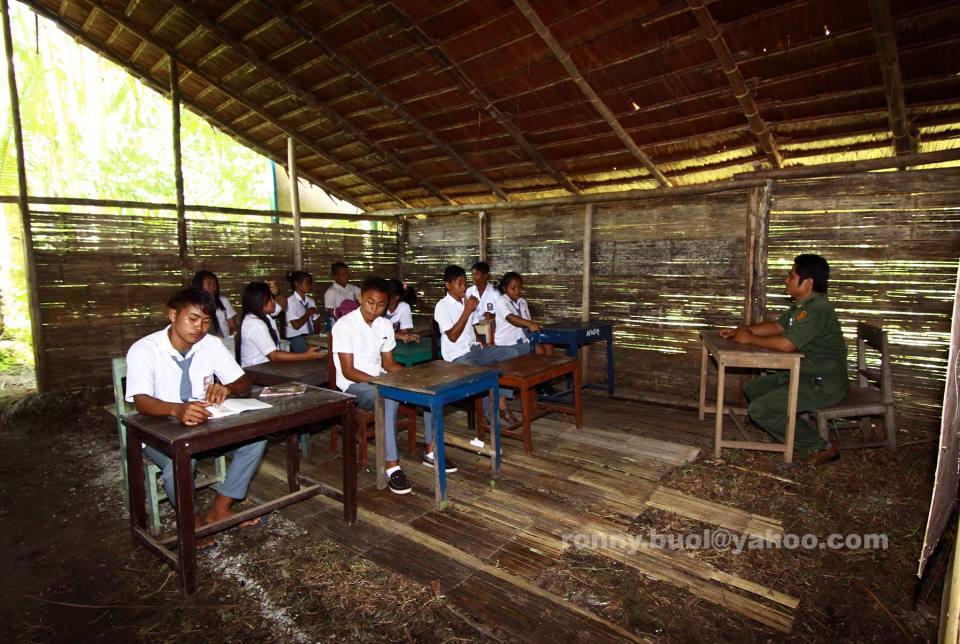 Kondisi ruang belajar di SMA Udamakatraya, desa Bannada, Kecamatan Gemeh, Kabupaten Talaud.