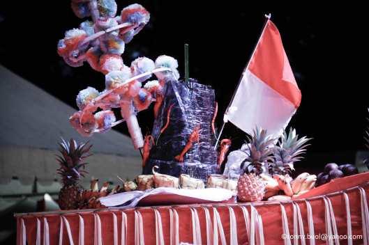 Kua Adat, Tamo yang digunakan  saat Gelar Upacara Adat Tulude yang diselanggarakan oleh Dinas Kebudayaan dan Pariwisata Sulawesi Utara yang bekerjasama dengan berbagai Komunitas Masyarakat Nusa Utara, Sabtu (6/2/2016) di Lapangan KONI Manado.
